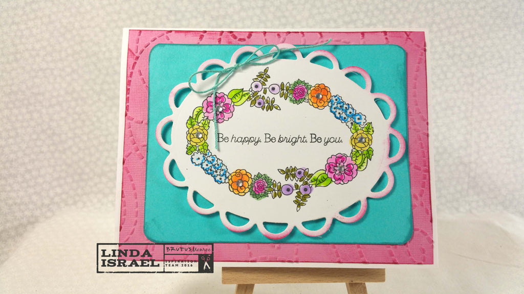Be happy Be bright Be you a greeting card