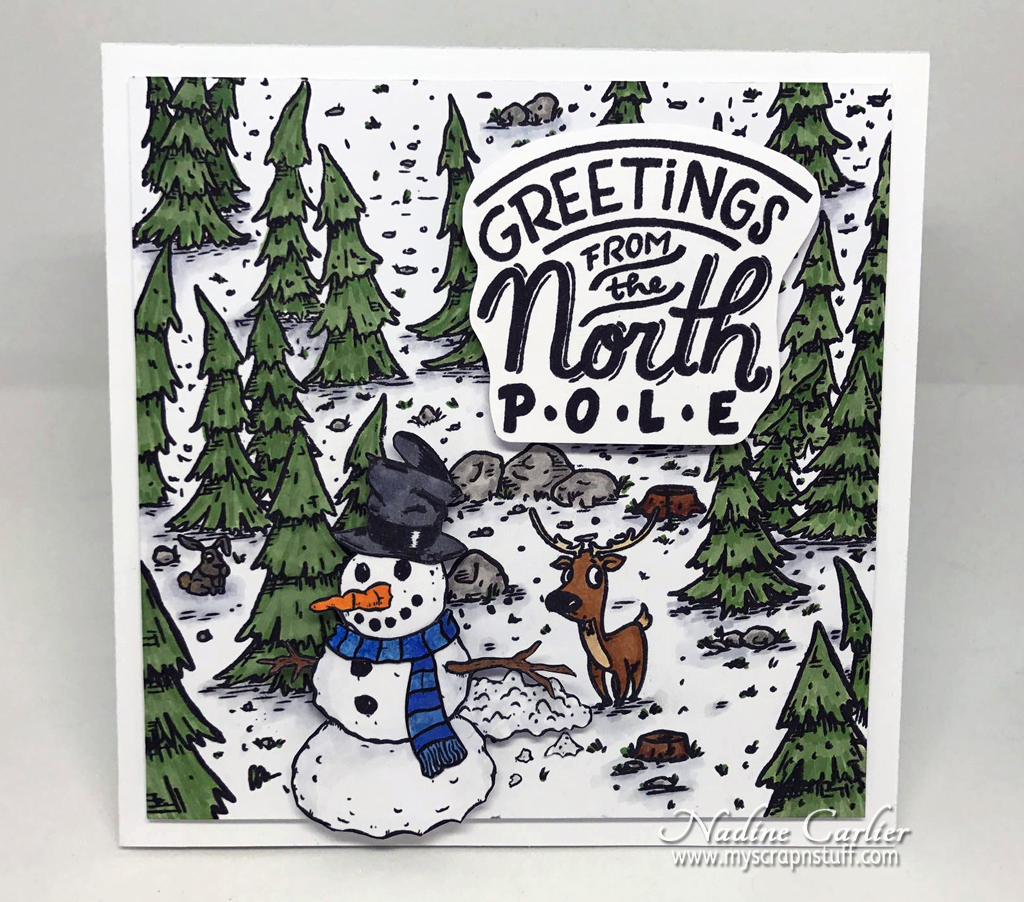 Greetings From The North Pole Card by Nadine Carlier