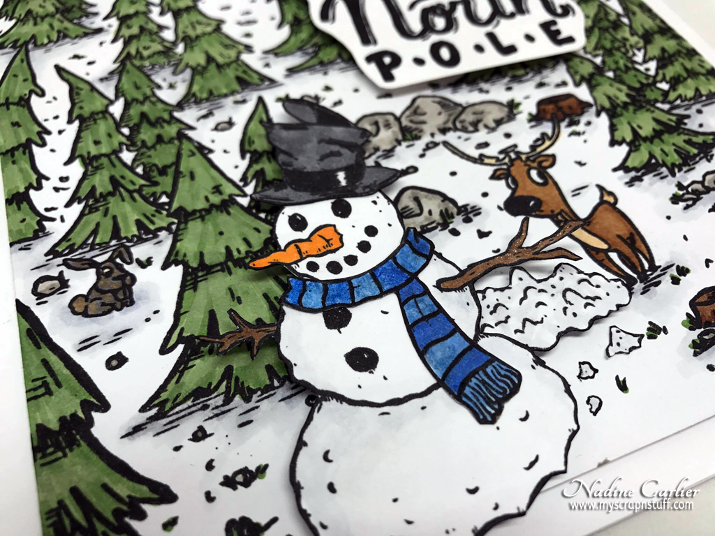 Brutus Monroe Build A Snowman Stamp Set