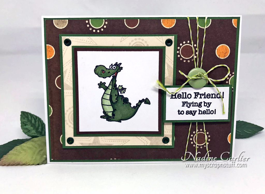 Brutus Monroe Stamp Of The Month Card by Nadine Carlier