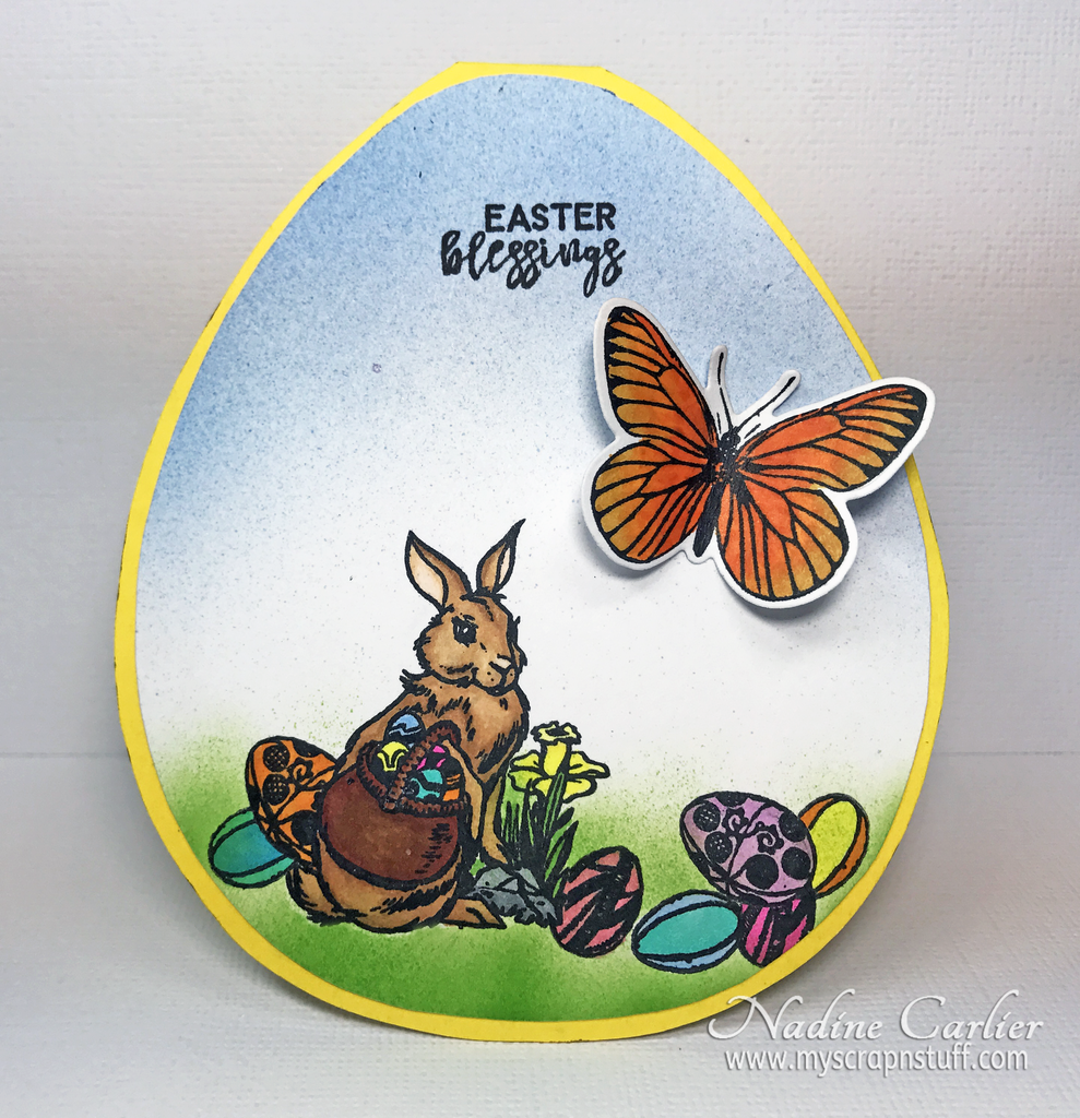 Easter Blessings Card by Nadine Carlier
