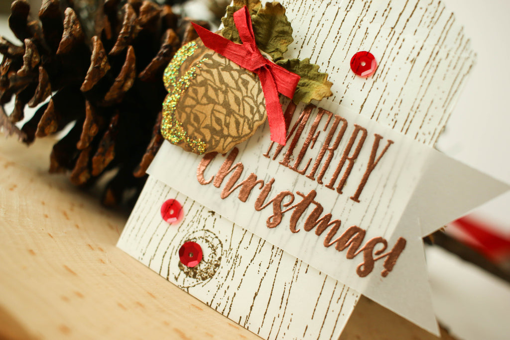Mini paper bags are the perfect envelopes for Christmas gift cards!