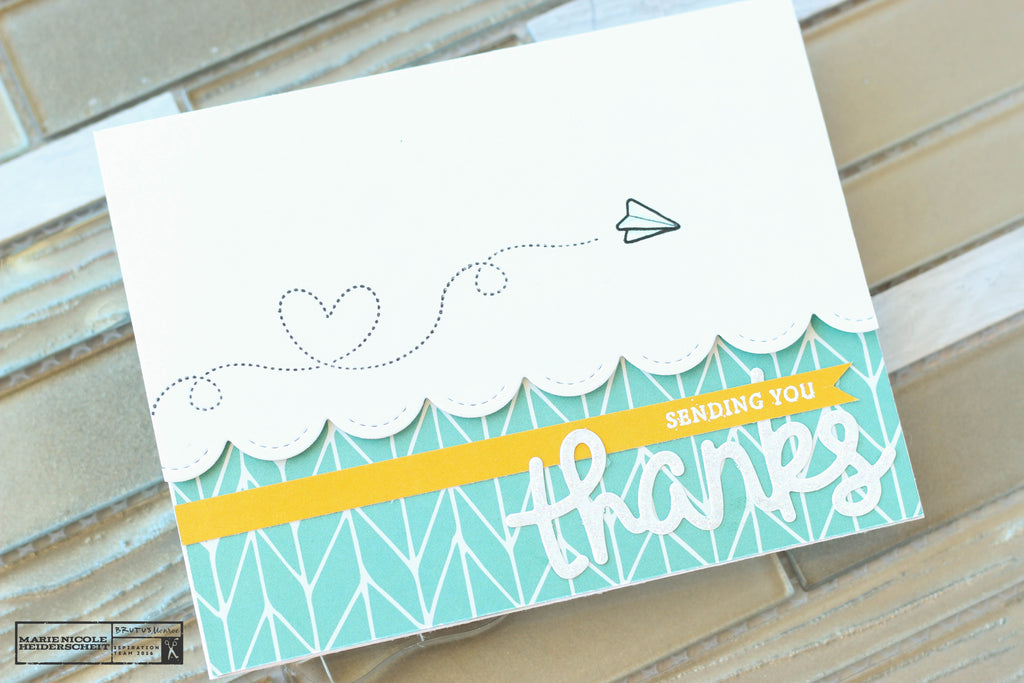 Thank You card created with the School Day Planner stamp set from Brutus Monroe