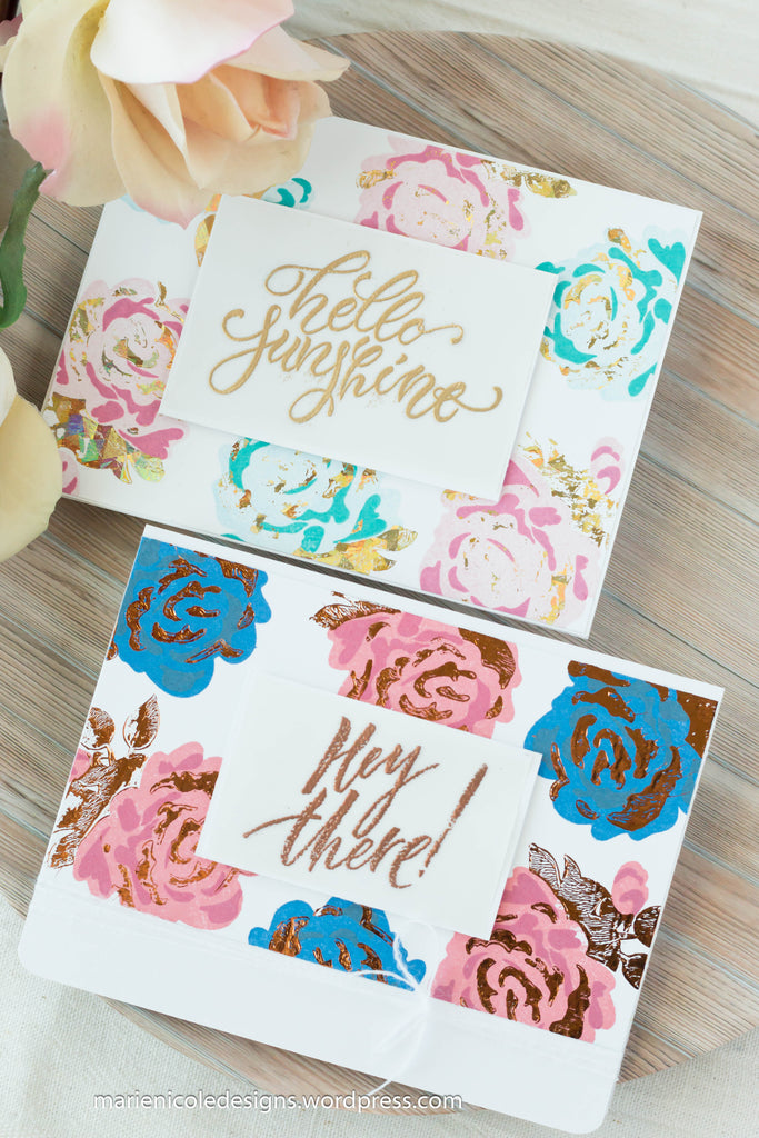 Layered Stamping with Brutus Monroe Surface Inks and Deco Foil