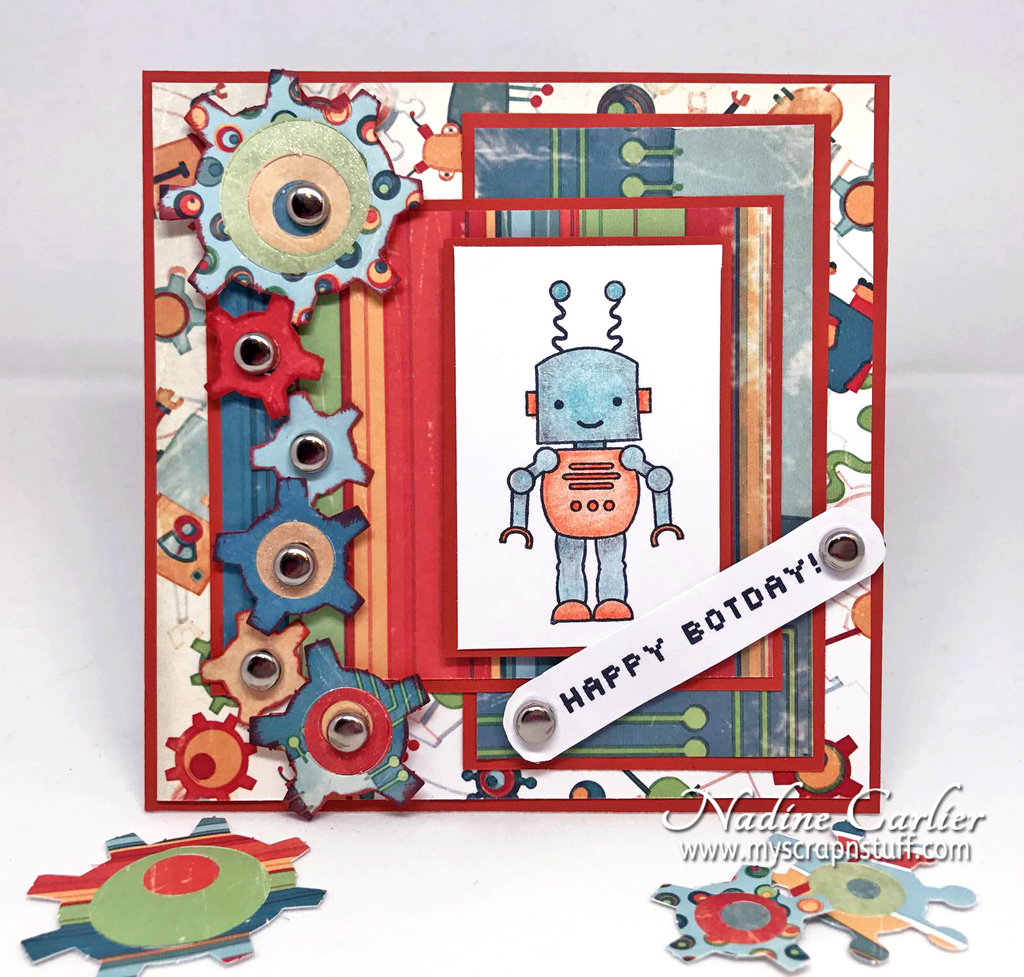 Happy Botday Card by Nadine Carlier