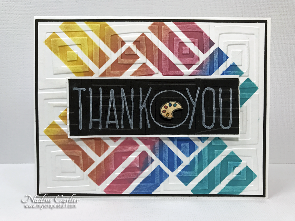 Colorful Thank You Card by Nadine Carlier