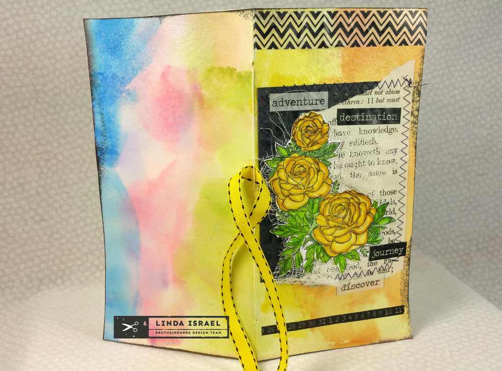 Yellow Rose Adventure Travelers Notebook Junk Journal