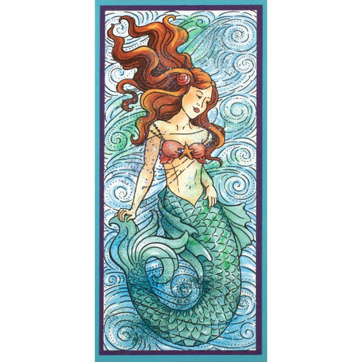 Stampendous Cling Stamp - Slim Mermaid