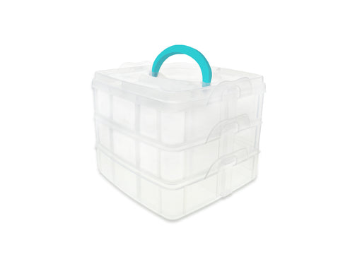 "Organizer Box | 3/pk | Snap-Tight w/Handle | 5.9""x5.9""x4.9"""