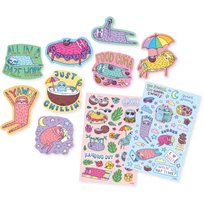 Sleepy Sloths Scented Stickers