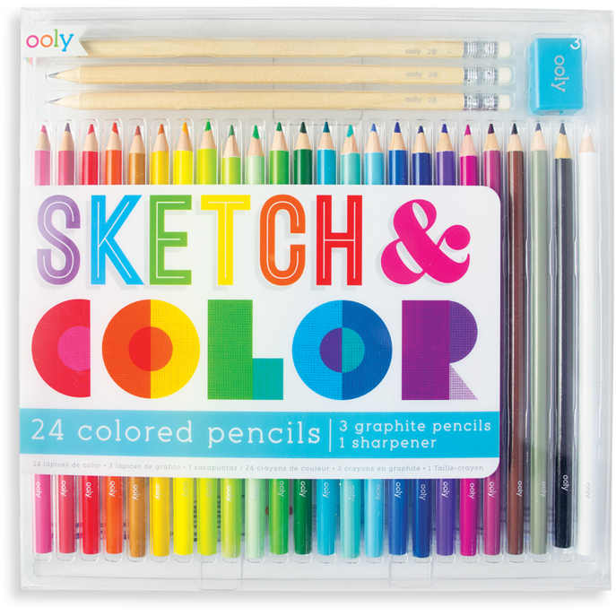 Sketch & Color Colored Pencil Set