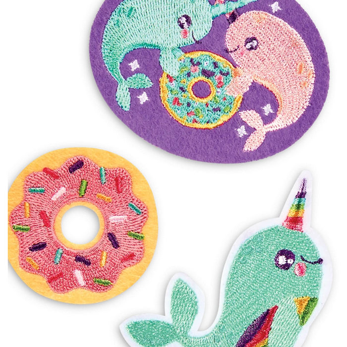 Patch Em' Iron-On Patches: Nom Nom Narwhals