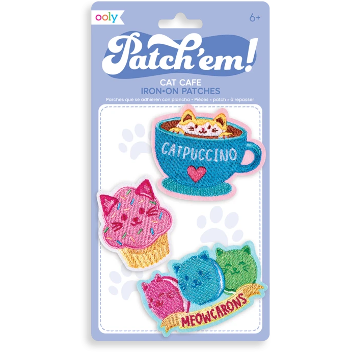 Patch Em' Iron-On Patches: Cat Cafe