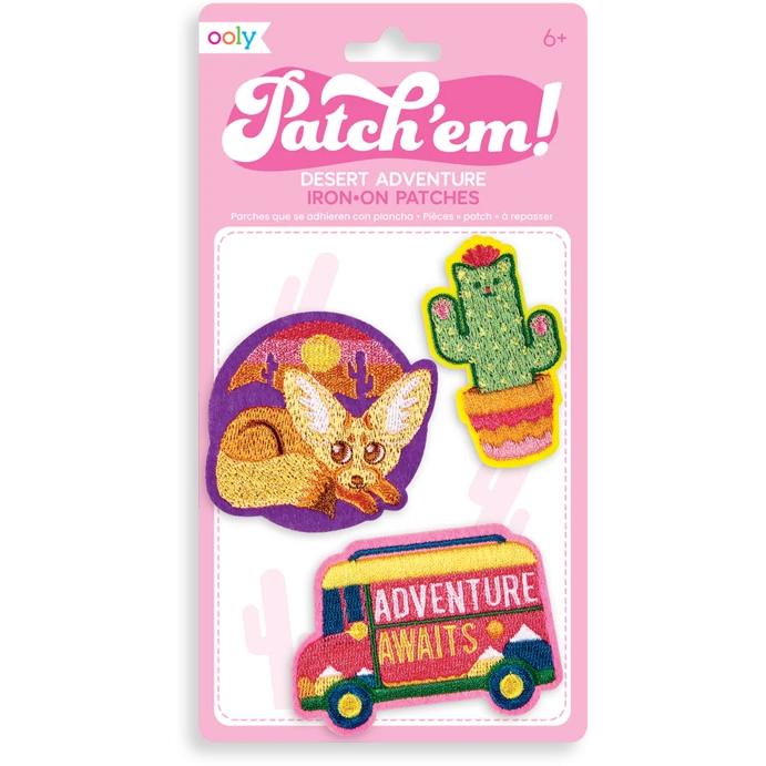 Patch Em' Iron-On Patches: Desert Adventure