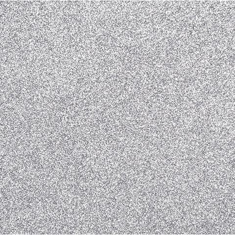 Sticky Back Glitter Sheet - Silver - 8.5 x 11 inches