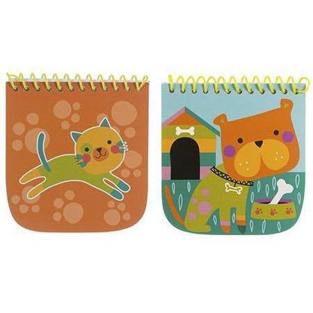 Mini Notebook: Animals, 4 x 4.5 inches, 2 Assorted Styles