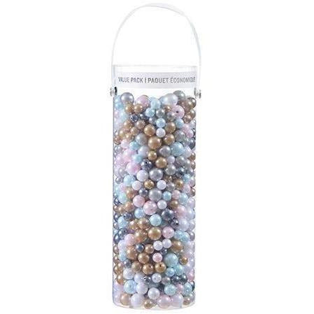 Assorted Acrylic Beads: Pastel Colors, 1 Pound