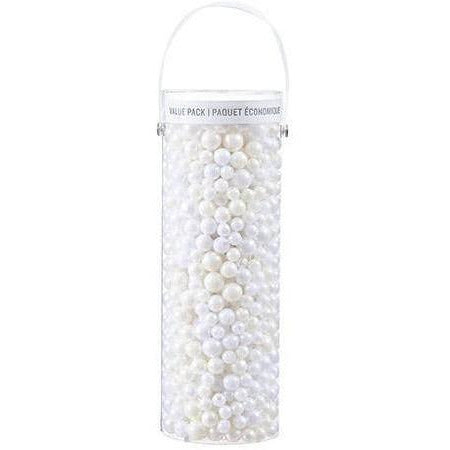 Next Assorted Acrylic Beads: Cream Colors, 1 Pound