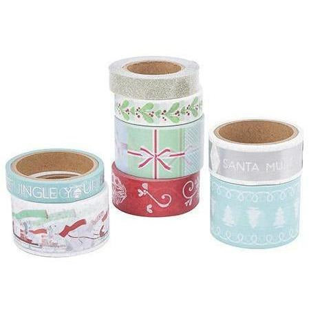 Next Martha Stewart Crafts® Christmas Washi Tape: Blue/Red, 8 Pieces
