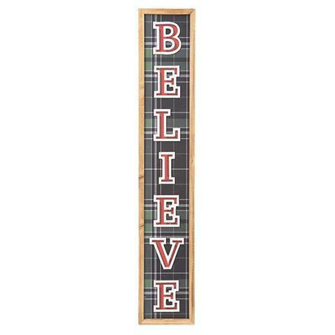 Believe Wall Plaque: 5 x 28 inches