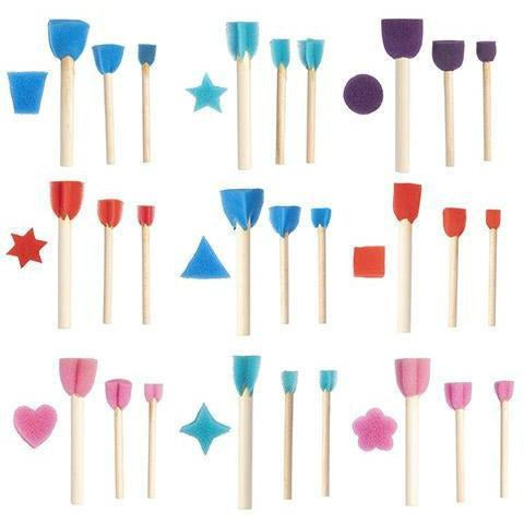 Foam Brushes in Assorted Shapes and Sizes, 95 pack