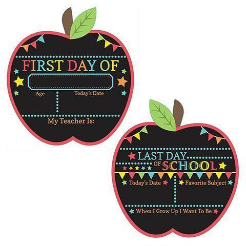 1st Day / Last Day of School Chalk Apple Sign