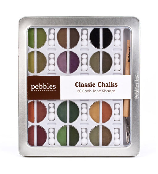 Pebbles Classic Chalks - 30 Earth Tone Shades