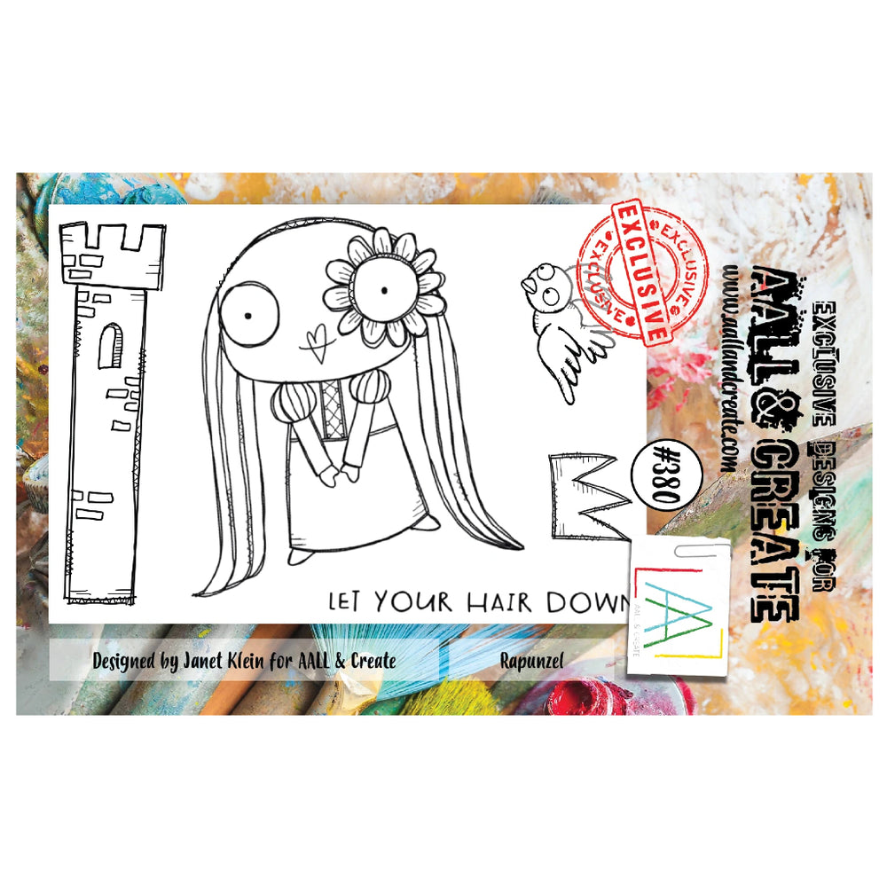 AALL & Create - A7 Stamp - Rapunzel