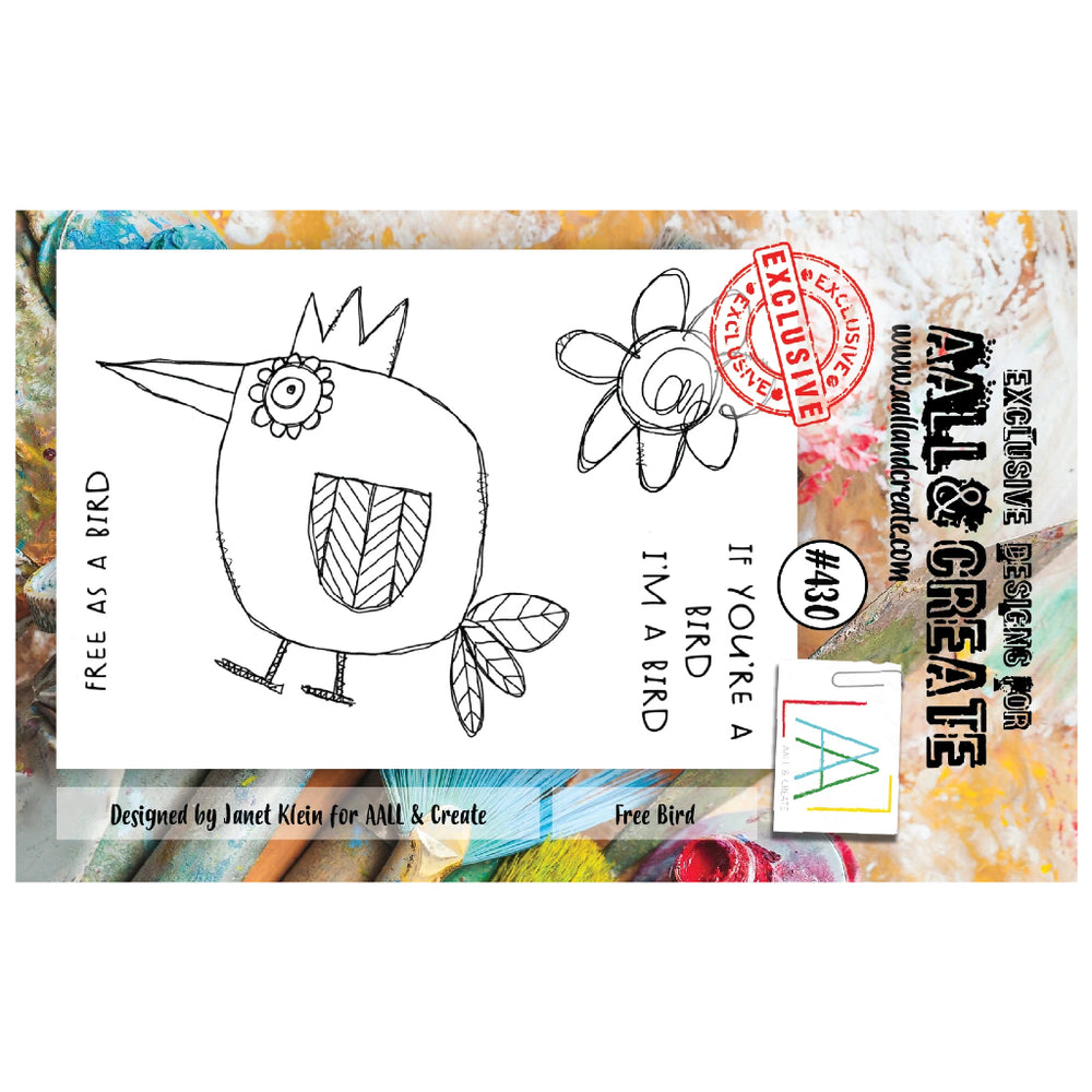 AALL & Create - A7 Stamp - Free Bird