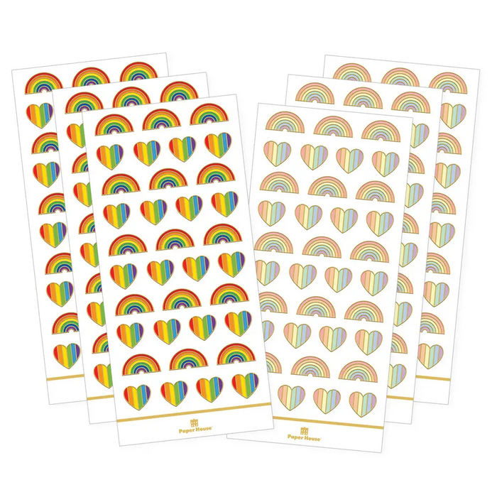 Rainbow Hearts Functional Sticker