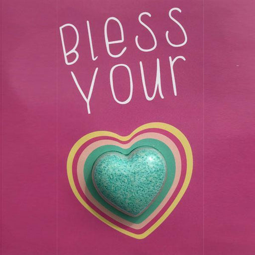 Feeling Smitten - Bless Your Heart Bath Card