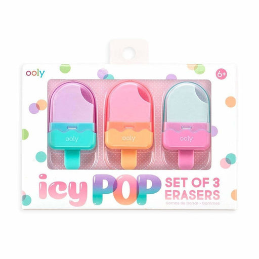 OOLY - Icy Pop Eraser 2.0 - Set of 3