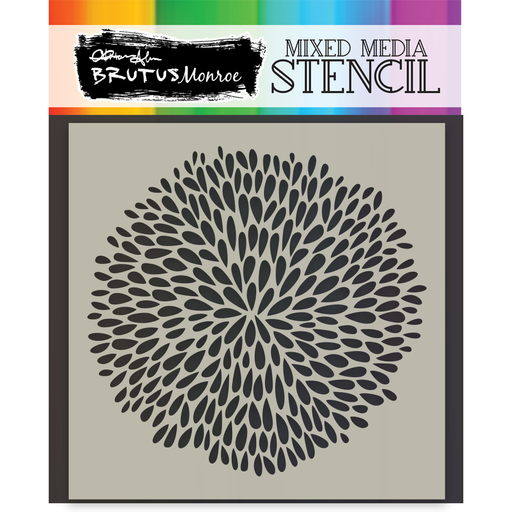 Mixed Media Stencil - Aster