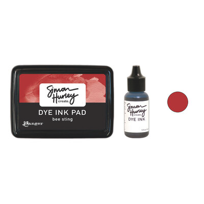 Simon Hurley Create. Dye Ink - Bee Sting - Ink Pad | Reinker Bundle