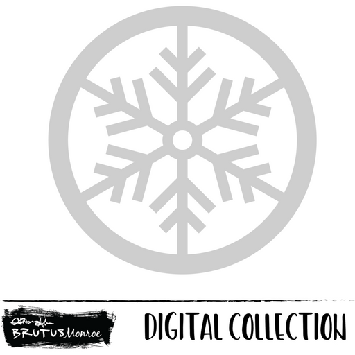 Blitzen - Snowflake Shaker - Digital Cut File