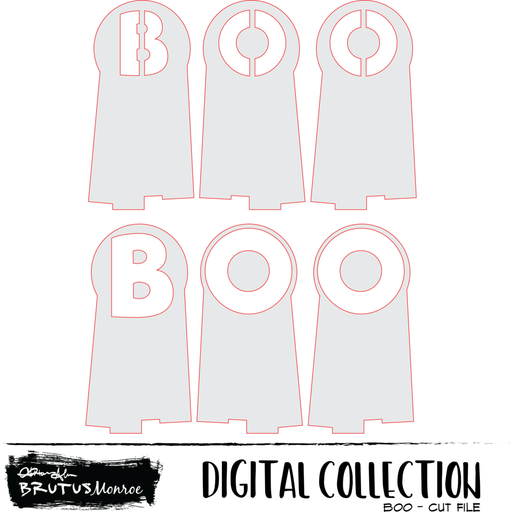 BOO - Digital Cut File