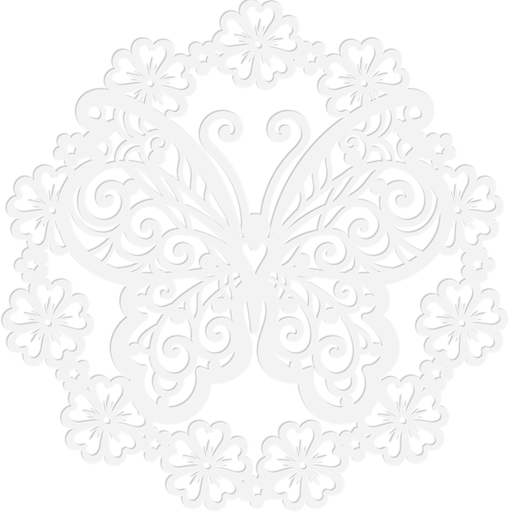"Scrapbook Stencil | Butterfly Wreath | 10.85""x10.85"""