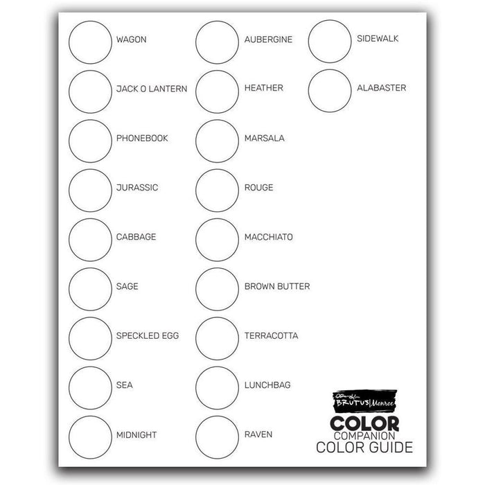 Color Companion Cardstock - Swatch Guide