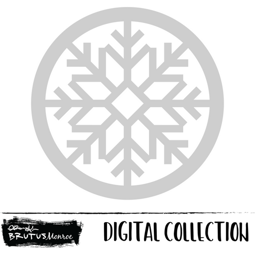 Dasher - Snowflake Shaker - Digital Cut File