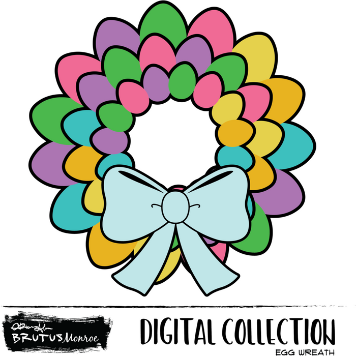 Egg Wreath - Digital Cut File