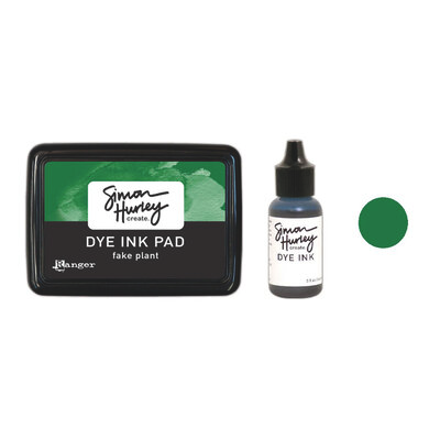 Simon Hurley Create. Dye Ink - Fake Plant - Ink Pad | Reinker Bundle