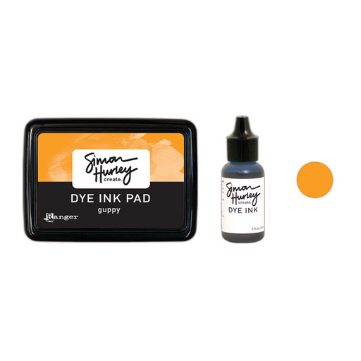 Simon Hurley Create. Dye Ink - Guppy - Ink Pad | Reinker Bundle