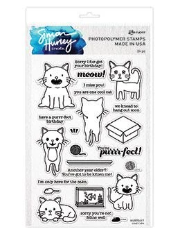 Simon Hurley Create.- Photopolymer Stamp  Cool Cats