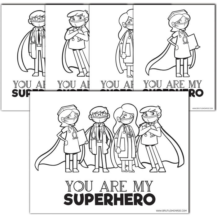 Healthcare Super Hero - Coloring Pages