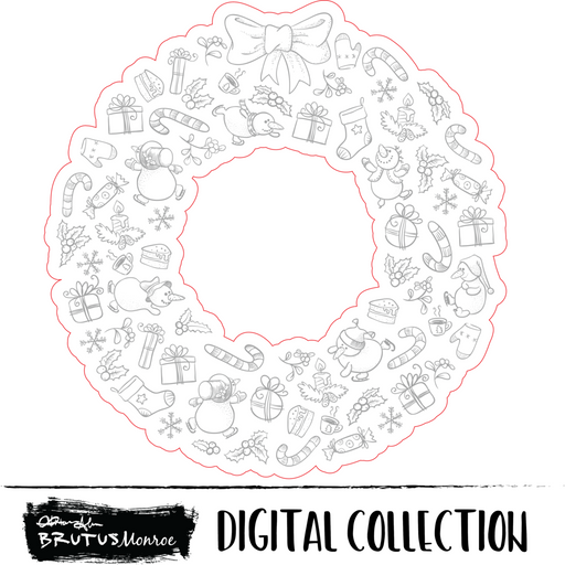 Holiday Wreath - Digital Cut File