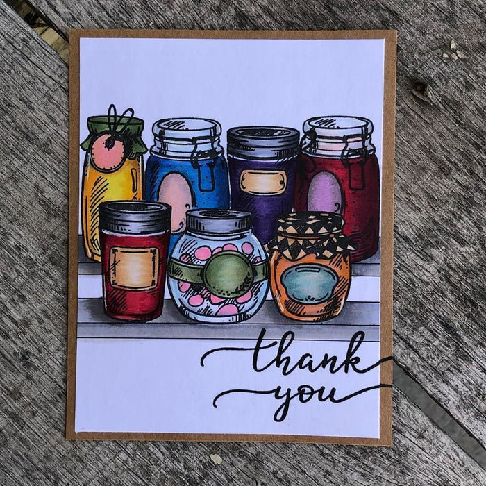 Jars of Love 6x8 Stamp