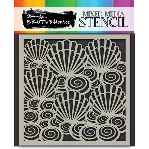 Mixed Media Stencil - Seashell Swirls