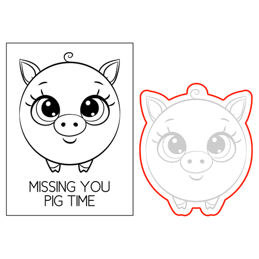 Polly the Piggy - Roundimal™ - Stamp and Die Set