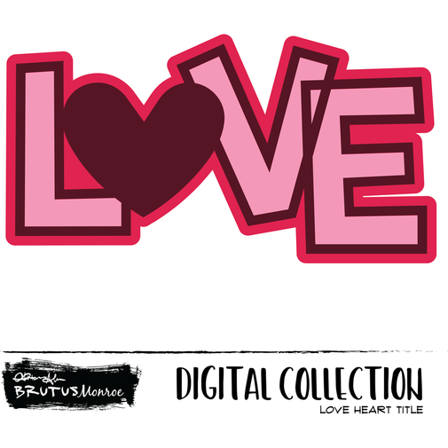 Love Heart Title - Digital Cut File