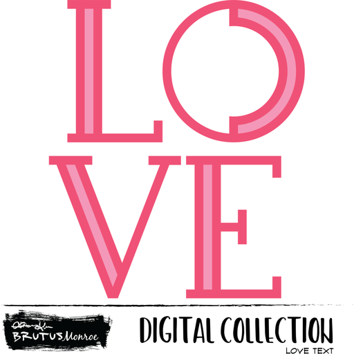 LOVE Text - Digital Cut File